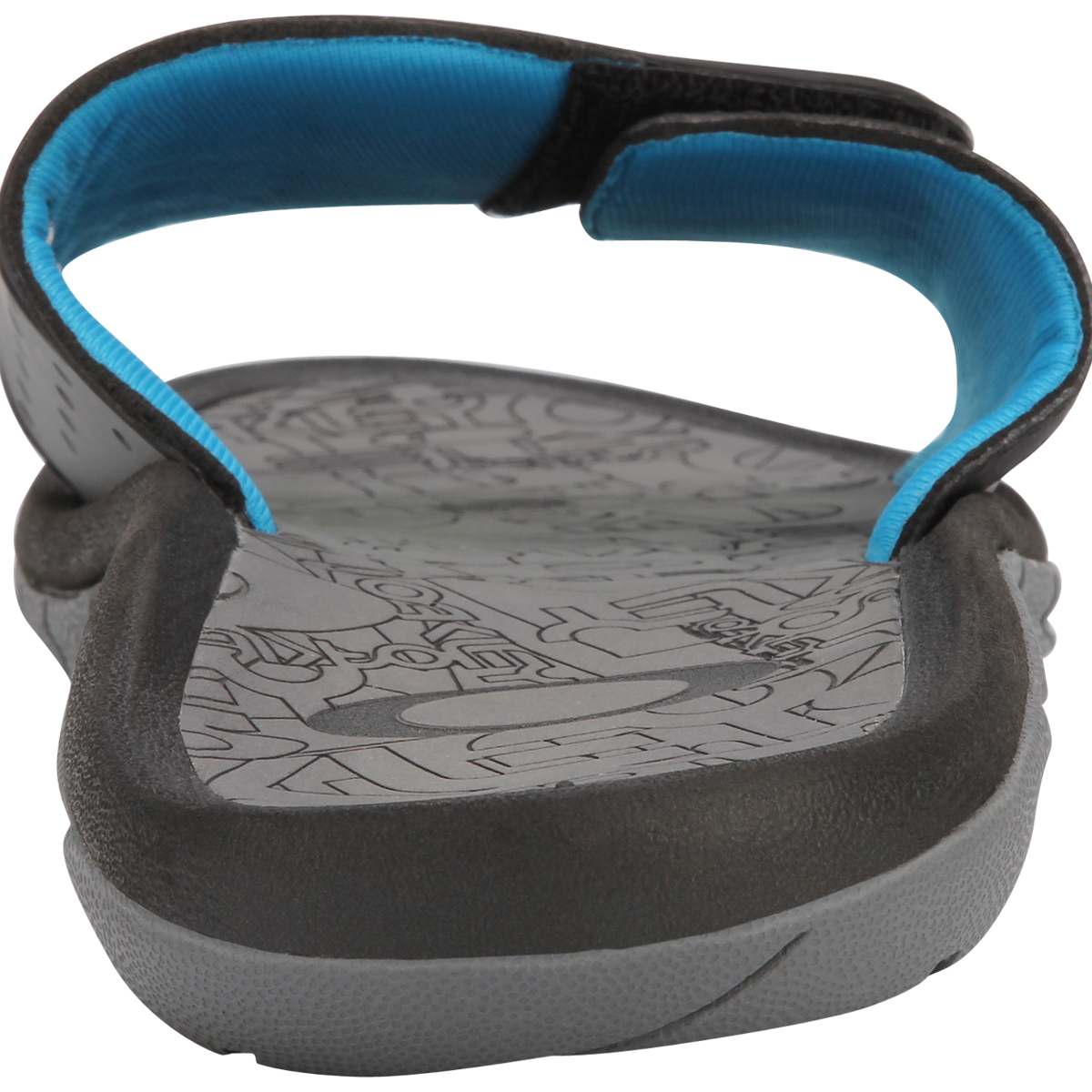 c98e6b6e5ba Chinelo Oakley Super Coil Slide Preto Com Azul ref 10132-012