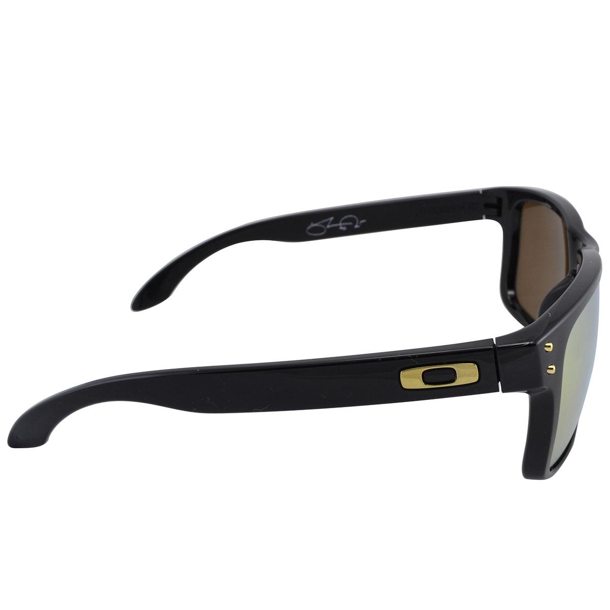 826040adcc58f Óculos Oakley Holbrook Shaun White Gold Signature Polished Black Lente 24k  Iridium ref OO9102-