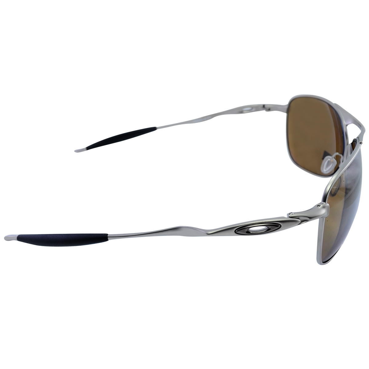 ... Óculos Oakley Crosshair Brown Titanium Lente Tungstein Iridium  Polarizado ... c1d769816d