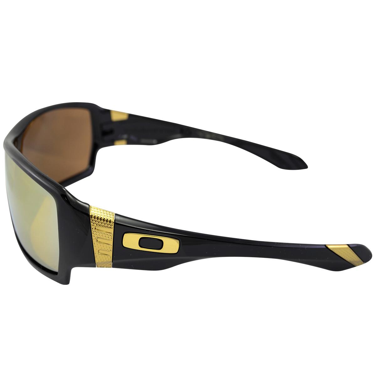 Óculos Oakley Offshoot Shaun White Gold Signature Series Polished Black Lente  24K Iridium ref . ef6afa9335