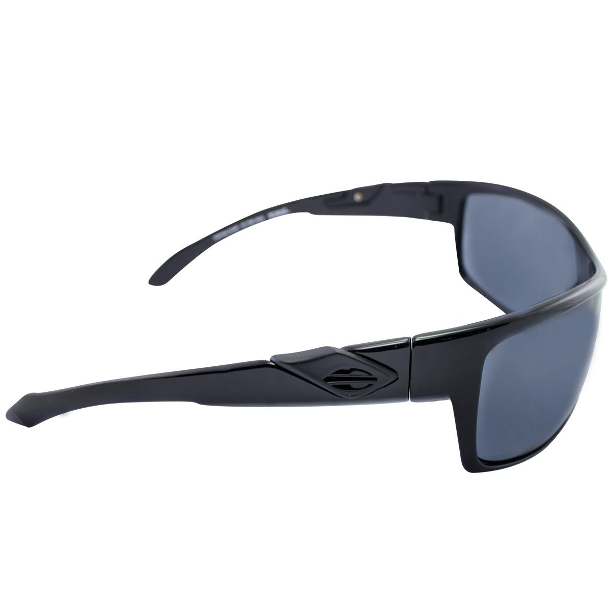 Óculos Mormaii Joaca Preto Brilho e Logo Grafite Lente . 332714a384