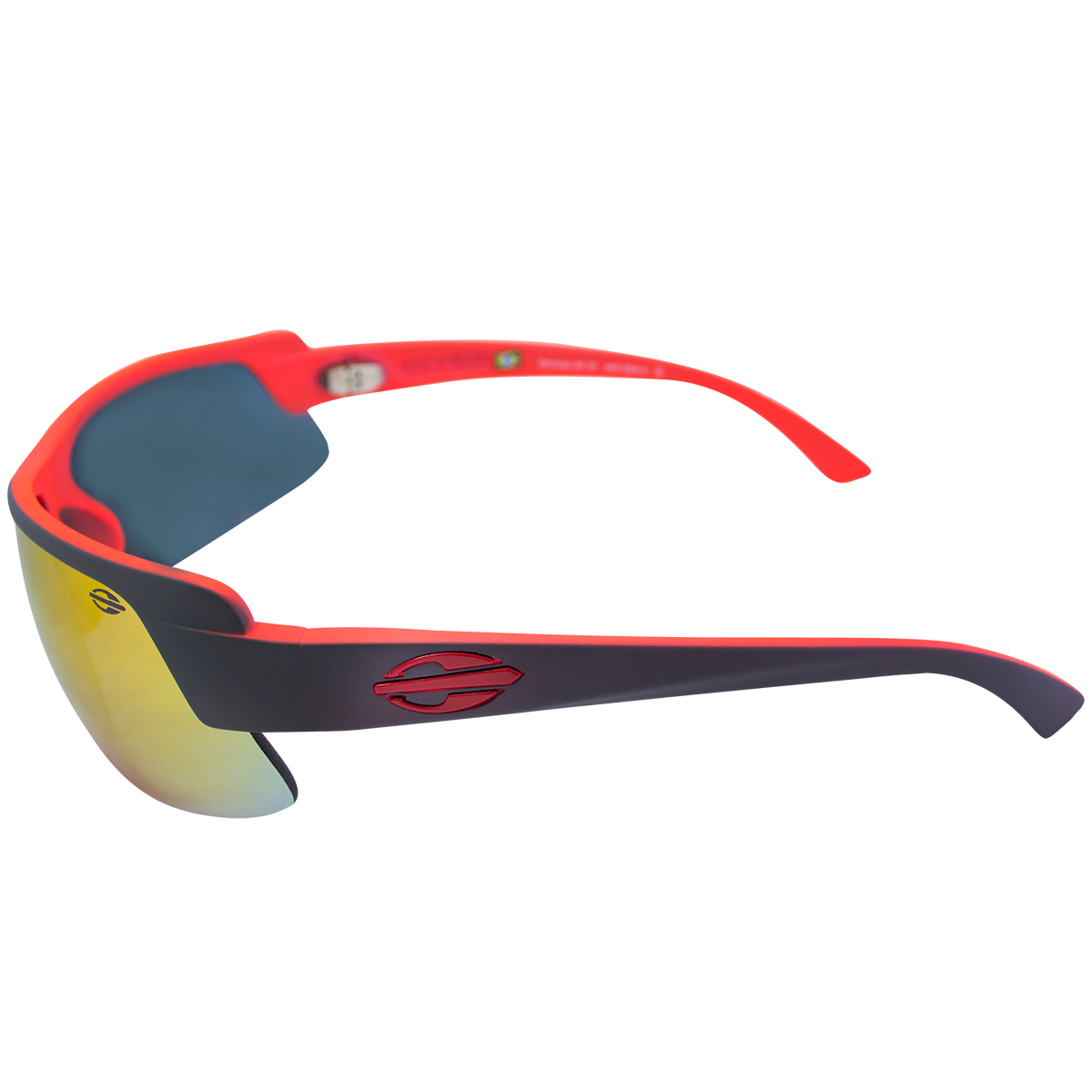 ... Óculos Mormaii Gamboa Air 3 Vermelho e Preto Lente Ruby Espelhada ... f71e4fd3d9