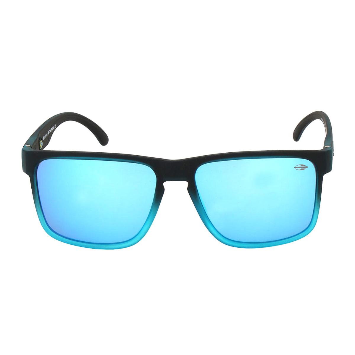 d15b6266e6b11 Óculos Mormaii Monterey Preto Fosco Degradê Azul Lente Azul ref ...