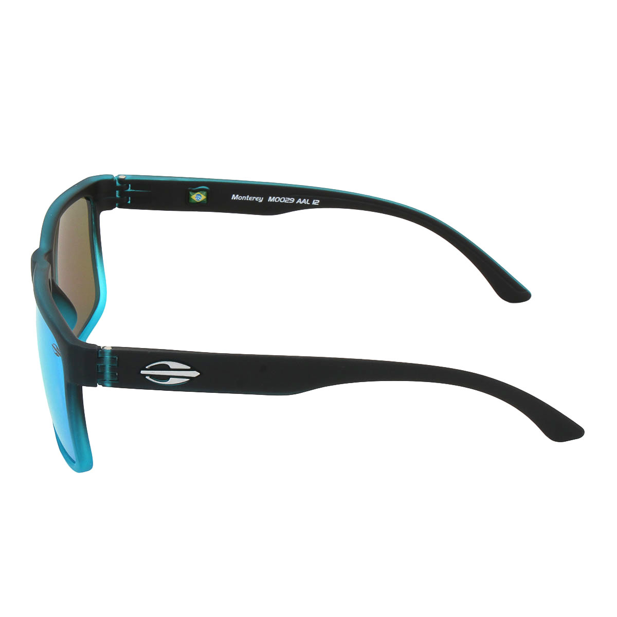 5e4e826779dd8 Óculos Mormaii Monterey Preto Fosco Degradê Azul Lente Azul ref ...