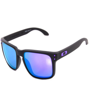 47a0db10045c0 Óculos Oakley Holbrook Julian Wilson Matte Black Lente Violet Iridium ref  OO9102-26