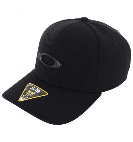 Boné Oakley Tincan Cap Preto com Logo Carbon Preto 296140dcca6