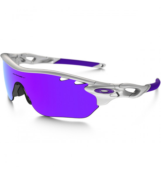 9d290e91c8bf7 Óculos Oakley Radarlock Edge Vented Polished White Lentes Violet Iridium e  Clear VR28