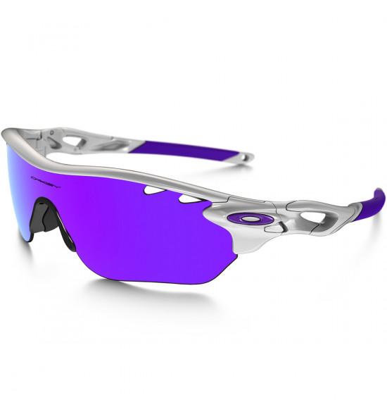 21dd9b3c2 Óculos Oakley Radarlock Edge Vented Polished White/Lentes Violet Iridium e  Clear VR28