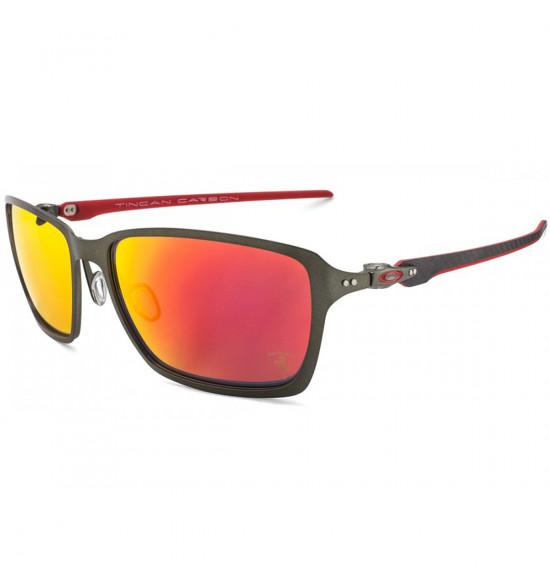 291f7d9dd5bc1 Óculos Oakley Tincan Carbon Linha Ferrari  Ruby Iridium Polarizado  LANÇAMENTO