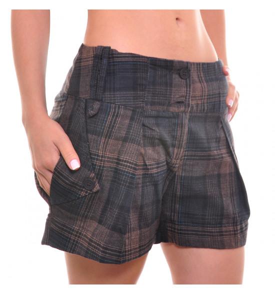 Shorts Checklist Flanelado Xadrez