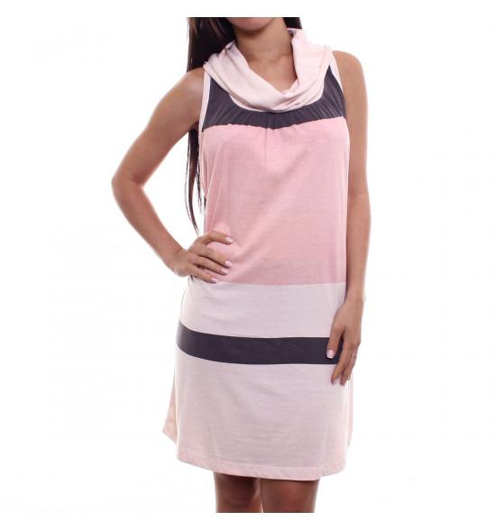 Vestido Checklist Stripe Rose