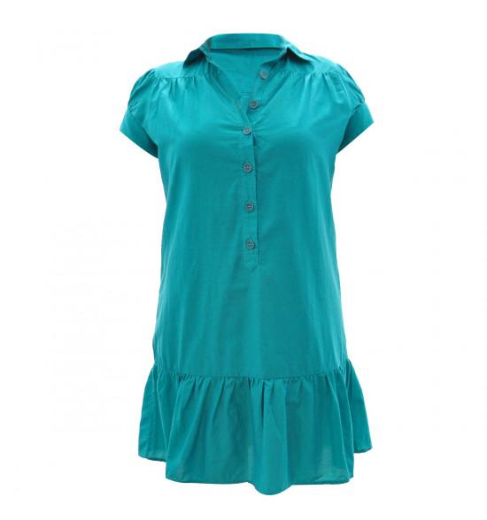 Vestido Checklist Verde Safari