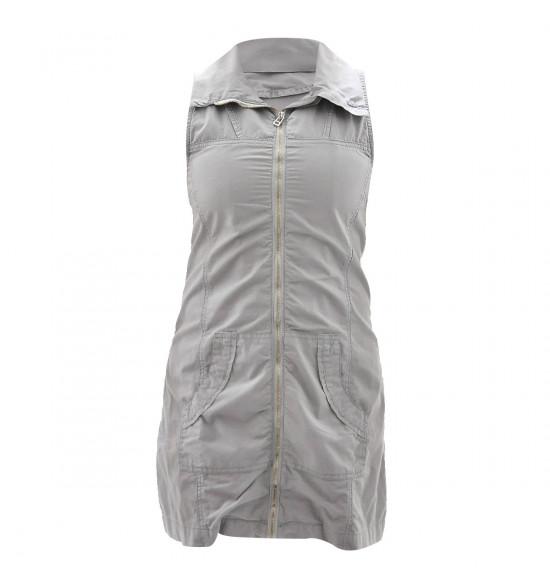 Vestido Checklist Cover Up Zíper Frente