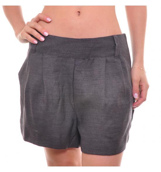 Shorts Eclectic Com Lã Pregas