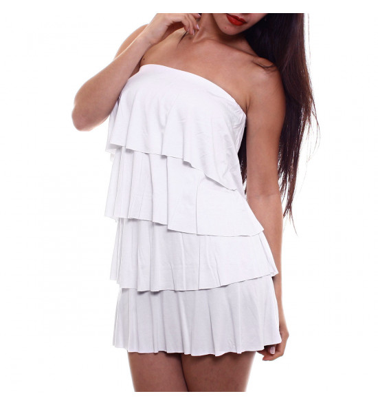 Sx Vestido Alma De Praia Tomara Que Caia Camadas Branco