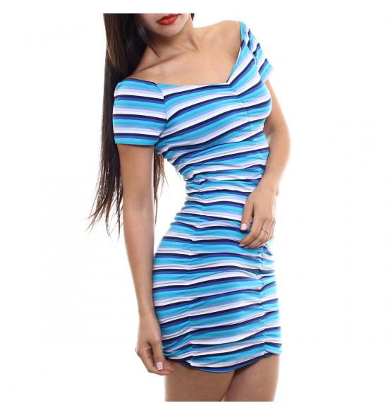Sx Vestido Alma De Praia Justo Listrado