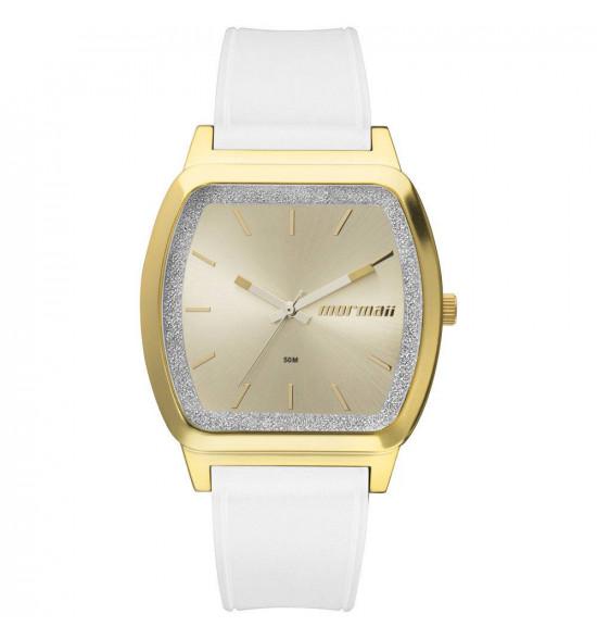79ad1a905d9 Relógio Mormaii Luau Branco com Dourado ref  MO2036EY 8A