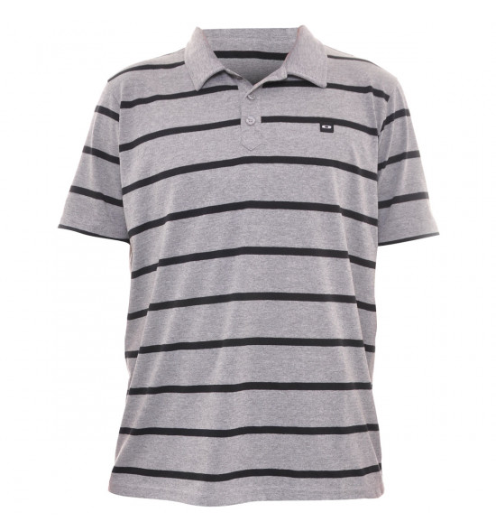 Camisa Polo Oakley Listrada Cinza LIQUIDAÇÃO VERÃO