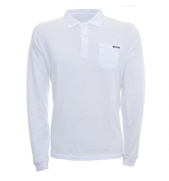 Camisa Polo Oakley Manga Longa Grund Branca LIQUIDAÇÃO