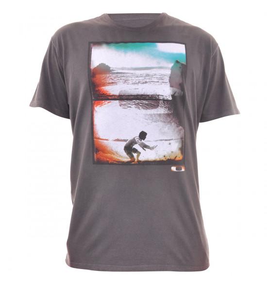 Camiseta Oakley Dentro da Onda Chumbo PROMOÇÃO