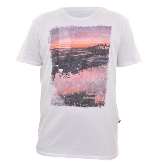 Camiseta Oakley Lagunas Sunset Branca LIQUIDAÇÃO VERAO