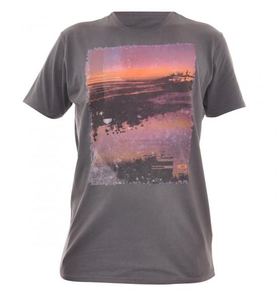 Camiseta Oakley Lagunas Sunset Cinza LIQUIDAÇÃO VERAO