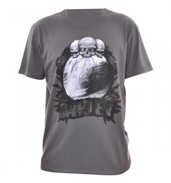Camiseta Oakley The Cave Chumbo PROMOÇÃO