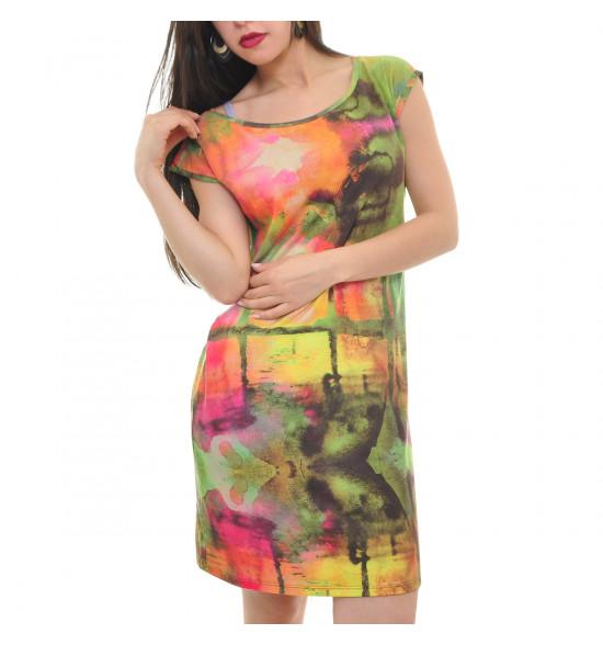 Vestido Cantão Silk Verao Coqueiros PROMOÇAO Ultima Peça tam P