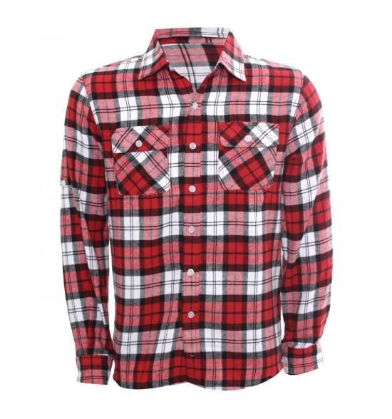Rx Camisa Alma De Praia Xadrez Vermelha Flanelada PROMOÇÃO Ultima Peça Tam P