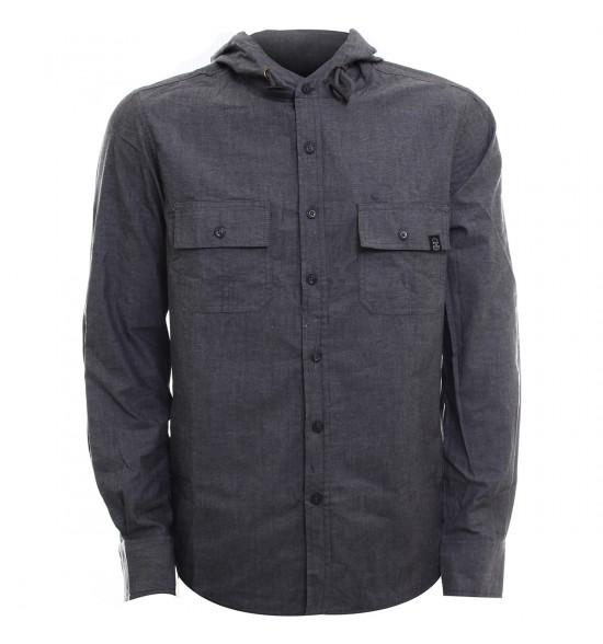 Camisa Alma De Praia Jeans com Capuz LANÇAMENTO Ultima Peça Tam G