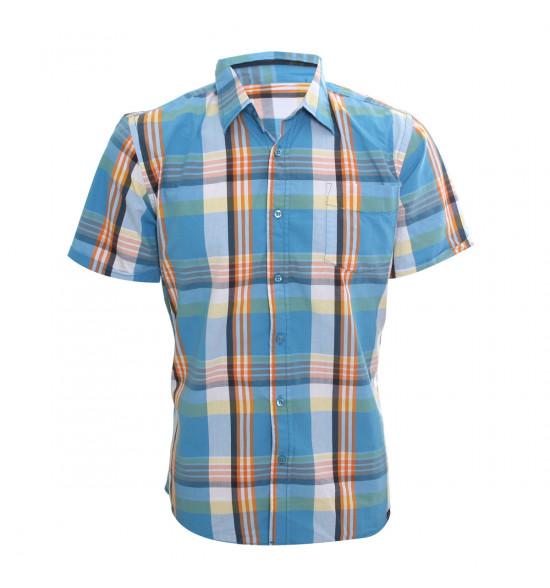 Rx Camisa Alma De Praia Summer Style Azul Com Laranja