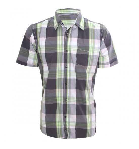 Rx Camisa Alma De Praia Summer Style Cinza Com Verde PROMOÇAO VERAO COM ESTILO