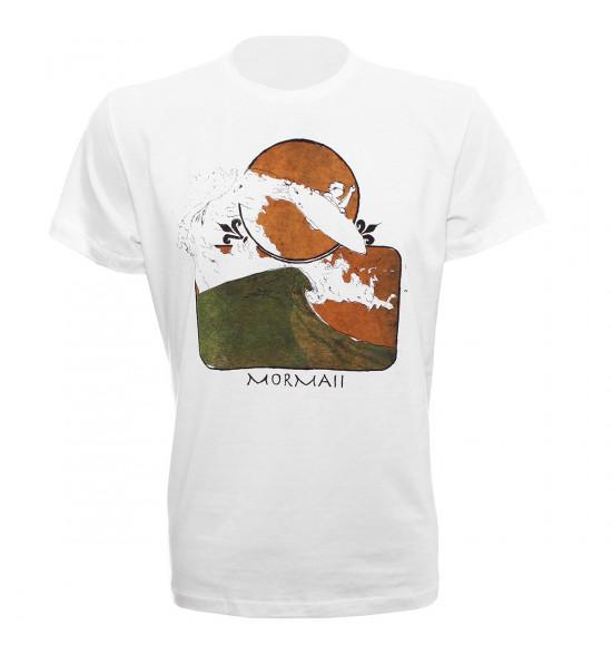 Camiseta Mormaii Aerial Medina Branco LIQUIDAÇÃO