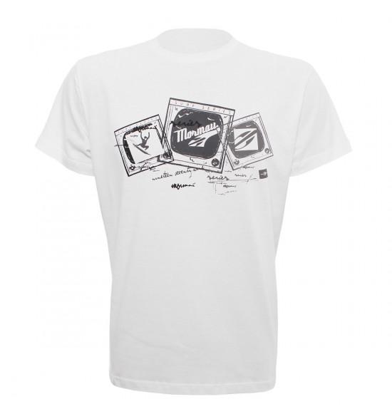 Camiseta Mormaii Surftv Branco LIQUIDAÇÃO