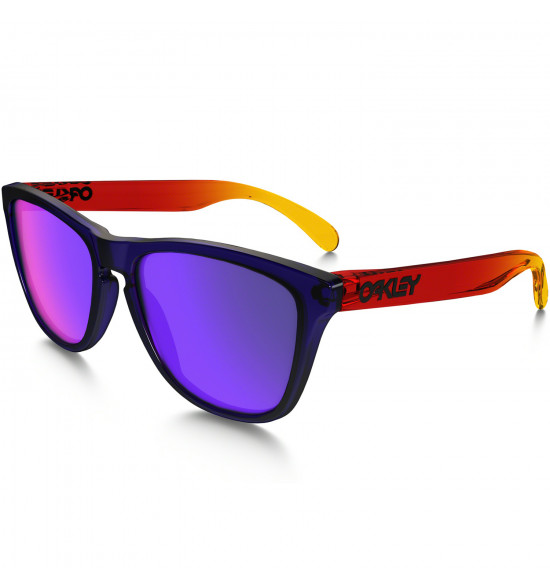 15527731a Óculos Oakley Frogskins Surf Collection Purple Red/Lente Red Positive  Iridium