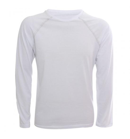 e01924870 Camiseta Alma De Praia Manga Longa Raglan Branca PROMOÇAO