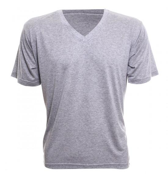 Rx Camiseta Alma de Praia Gola V Mescla
