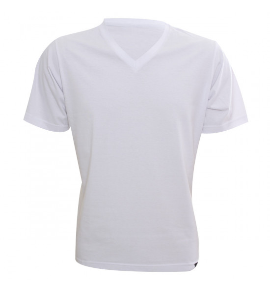 Rx Camiseta Alma De Praia Gola V Branca
