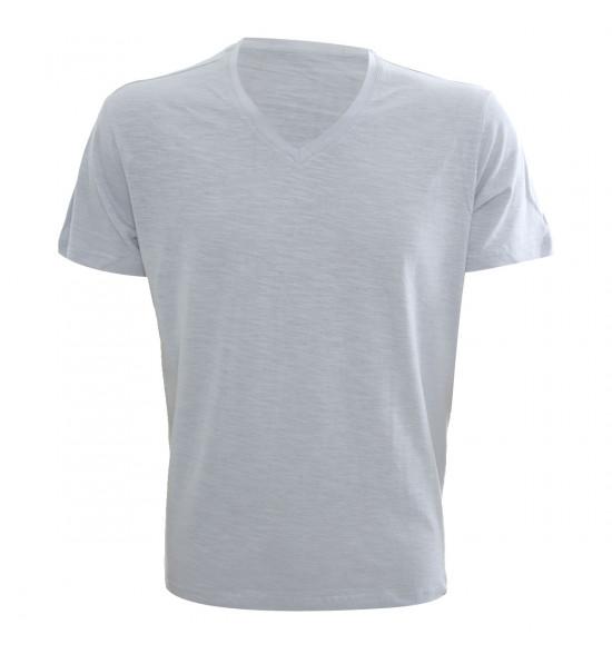 Rx Camiseta Alma De Praia Gola V Flame Cinza
