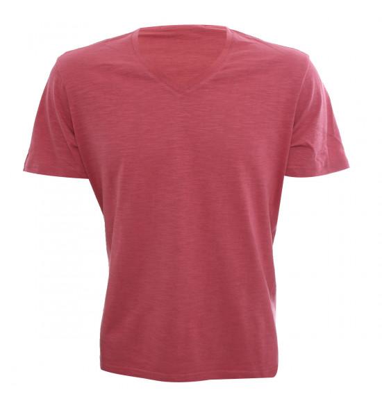 Rx Camiseta Alma De Praia Gola V Flame Vermelha