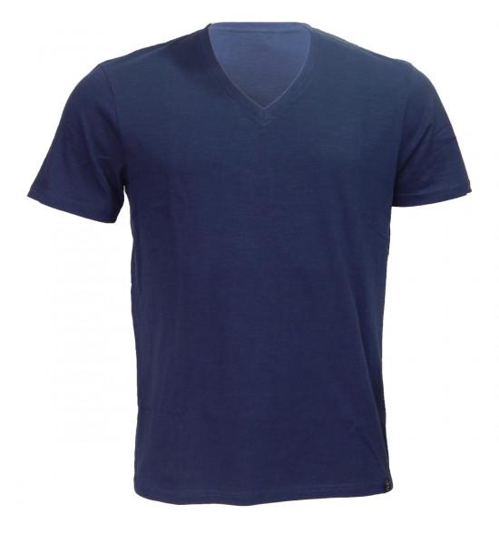 Rx Camiseta Alma de Praia Gola V Flame Azul