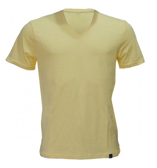 Rx Camiseta Alma de Praia Gola V Flame Amarela