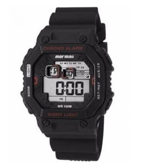 296922cd966 Relógio Mormaii Digital C  Pulseira Silicone Preto C  Vermelho ref ...