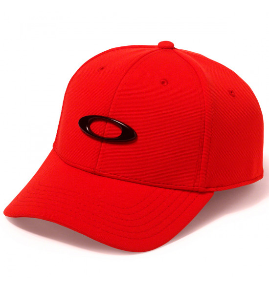 Boné Oakley Tincan Cap Vermelho com Logo Preto ref 911545-4A4L 64114bdf09f