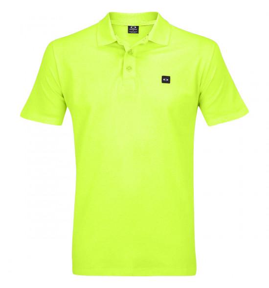 3ff529a41 Camisa Polo Oakley Essential Patch Amarelo Neon ref 433493-75E