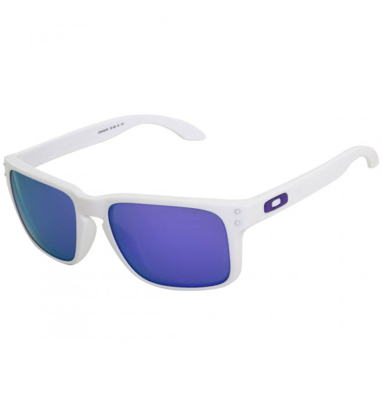Óculos Oakley Holbrook Matte White/ Lente Violet Iridium