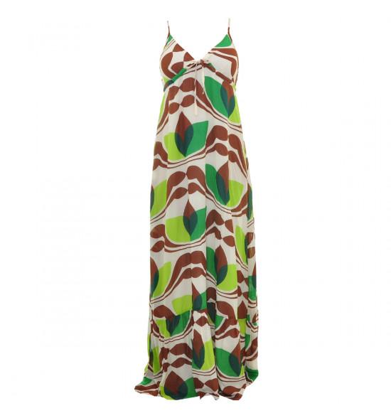 Vestido Longo Totem Folhas - Ultima Peça tam M