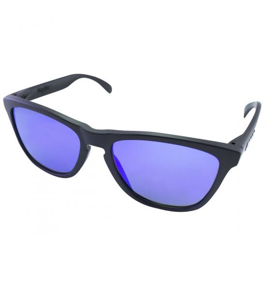 893b85f5b2503 Óculos Oakley Frogskins Matte Black Lente Violet Iridium ref 24-298