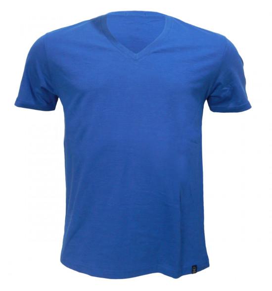 Rx Camiseta Alma de Praia Gola V Flame Roial Azul