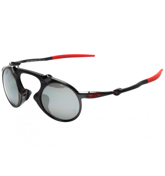 f71ca3fd7ac73 Óculos Oakley Madman Ferrari Edition Dark Carbon Lente Black Iridium  Polarizado